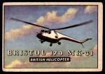 1952 Topps Wings #169   Bristol 170 MK-31 Front Thumbnail
