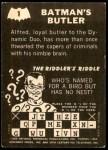 1966 Topps Batman -  Riddler Back #1   Batmans Butler Back Thumbnail