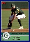 2003 Topps Traded #121 T  -  Bobby Crosby Prospect Front Thumbnail