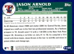 2003 Topps Traded #160 T  -  Jason Arnold Prospect Back Thumbnail