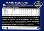 2003 Topps Traded #64 T Mark Bellhorn  Back Thumbnail