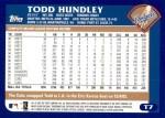 2003 Topps Traded #7 T Todd Hundley  Back Thumbnail
