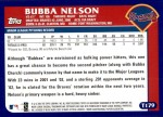 2003 Topps Traded #179 T  -  Bubba Nelson First Year Back Thumbnail