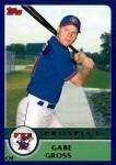 2003 Topps Traded #146 T  -  Gabe Gross Prospect Front Thumbnail