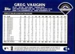 2003 Topps Traded #4 T Greg Vaughn  Back Thumbnail