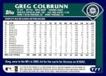2003 Topps Traded #77 T Greg Colbrunn  Back Thumbnail