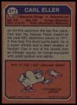 1973 Topps #211  Carl Eller  Back Thumbnail