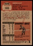 2002 Topps Heritage #185  Damion Easley  Back Thumbnail