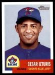 2002 Topps Heritage #161  Cesar Izturis  Front Thumbnail