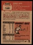 2002 Topps Heritage #168  Rondell White  Back Thumbnail