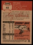 2002 Topps Heritage #42  Troy Glaus  Back Thumbnail