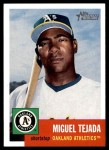 2002 Topps Heritage #68  Miguel Tejada  Front Thumbnail