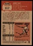 2002 Topps Heritage #317  Aubrey Huff  Back Thumbnail