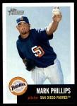 2002 Topps Heritage #214  Mark Phillips  Front Thumbnail