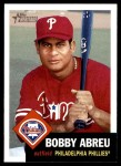2002 Topps Heritage #224  Bobby Abreu  Front Thumbnail