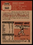 2002 Topps Heritage #360  Marquis Grissom  Back Thumbnail