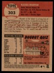 2002 Topps Heritage #303  Russell Branyan  Back Thumbnail