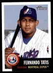 2002 Topps Heritage #330  Fernando Tatis  Front Thumbnail