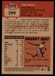 2002 Topps Heritage #299  John Smoltz  Back Thumbnail