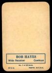 1970 Topps Glossy #7  Bob Hayes  Back Thumbnail