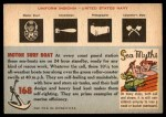 1955 Topps Rails & Sails #168   Surf Boat Back Thumbnail