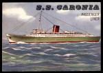 1955 Topps Rails & Sails #188   S.S. Caronia Front Thumbnail
