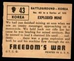 1950 Topps Freedoms War #43   Exploded Mine   Back Thumbnail