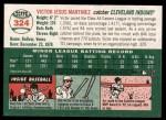 2003 Topps Heritage #324  Victor Martinez  Back Thumbnail