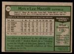 1979 Topps #355  Lee Mazzilli  Back Thumbnail