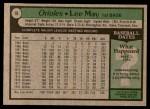 1979 Topps #10  Lee May  Back Thumbnail