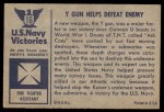 1954 Bowman U.S. Navy Victories #16   Y Gun Helps Defeat Enemy Back Thumbnail
