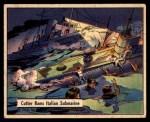 1941 Gum Inc. War Gum #112   Cutter Rams Big Italian Submarine Front Thumbnail