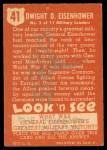 1952 Topps Look 'N See #41  Dwight Eisenhower  Back Thumbnail