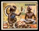 1950 Topps Bring Em Back Alive #28   Snake Woman Front Thumbnail