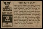 1954 Bowman U.S. Navy Victories #48   Long May it Wave Back Thumbnail