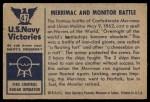 1954 Bowman U.S. Navy Victories #47   Merrimac and Monitor Battle Back Thumbnail