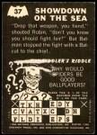 1966 Topps Batman -  Riddler Back #37   Showdown on the Sea Back Thumbnail