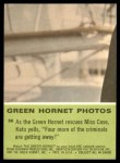 1966 Donruss Green Hornet #36   Green Hornet rescues Miss Case Back Thumbnail