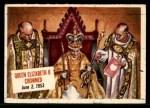 1954 Topps Scoop #52   Queen Elizabeth II Crowned Front Thumbnail