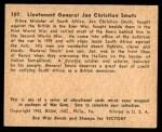 1941 Gum Inc. War Gum #107   Lt. General Jan Christian Smuts Back Thumbnail
