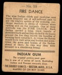 1947 Goudey Indian Gum #59   Fire Dance Back Thumbnail