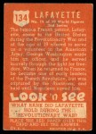 1952 Topps Look 'N See #134  Lafayette  Back Thumbnail