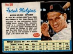 1962 Post #58  Frank Malzone   Front Thumbnail