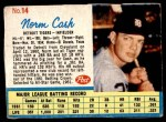1962 Post #14 RGT Norm Cash  Front Thumbnail