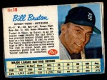 1962 Post #18  Bill Bruton   Front Thumbnail