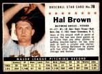 1961 Post #78  Hal Brown   Front Thumbnail