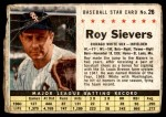 1961 Post #26 BOX Roy Sievers   Front Thumbnail