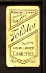 1909 T206 Tolstoi  Bob Groom  Back Thumbnail