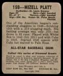 1948 Leaf #159  Mizell Platt  Back Thumbnail