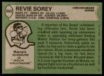 1978 Topps #250  Revie Sorey  Back Thumbnail